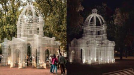La cupola in rete metallica: monumentale scultura a Villa Borghese