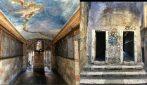 """Il passetto del Biscione, il """"passaggio segreto"""" a Roma affrescato con una volta celeste"""