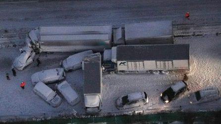 Giappone, mega tamponamento a Osaki: 130 veicoli coinvolti nell'incidente