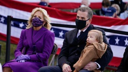 Jill Biden, il look viola alla vigilia dell'Inauguration Day