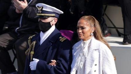 Jennifer Lopez canta per gli americani all'Inauguration Day