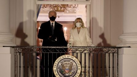 Jill Biden in bianco per il concerto virtuale dell'Inauguration Day