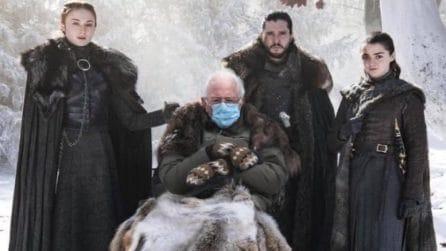 I meme del senatore Sanders alla cerimonia di insediamento del Presidente Biden