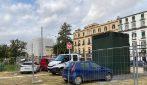 Villa Comunale nel degrado, flash mob dei comitati con corona funebre