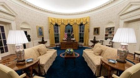 I cambiamenti di Joe Biden all'arredamento dello Studio Ovale nella Casa Bianca