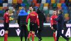 L'arbitro Maresca espelle Conte e Oriali dell'Inter a Udine