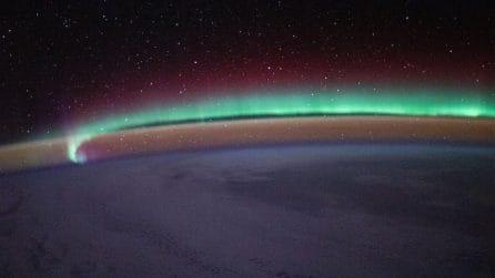 Le fantastiche immagini dell'aurora boreale scattate dalla ISS