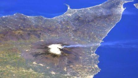 L'Etna in eruzione visto dalla ISS: la foto dallo spazio è spettacolare