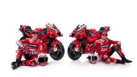 Le Ducati di Bagnaia e Miller per la MotoGP 2021