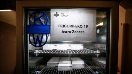 Roma, l'arrivo dei vaccini AstraZeneca alla ASL RM1