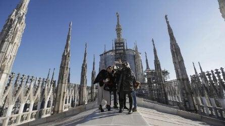 Milano, riapre il Duomo: ecco i primi visitatori