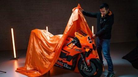 La KTM del team Tech3 di Danilo Petrucci per la MotoGP 2021
