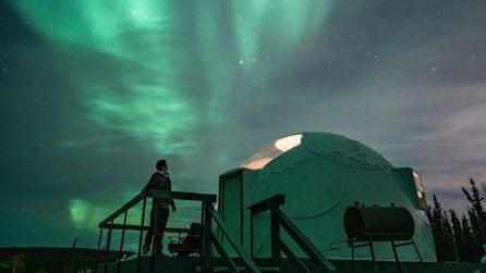 L'Aurora Boreale come non l'avete mai vista dentro un igloo con vista privilegiata