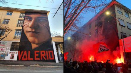 """""""Valerio vive"""", il murale di Jorit al Tufello a 41 anni dall'omicidio Verbano"""