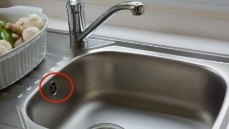 A cosa serve il secondo buco del lavello?