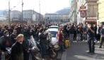 Napoli, la protesta dei lavoratori dello spettacolo