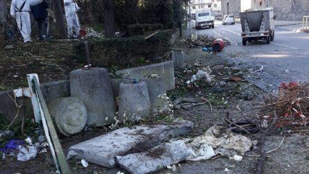 Centro Direzionale di Napoli nel degrado: cumuli di rifiuti e carcasse di animali