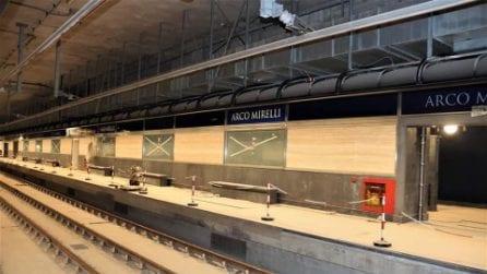 La stazione metro Linea 6 di Arco Mirelli aperta a ottobre 2021