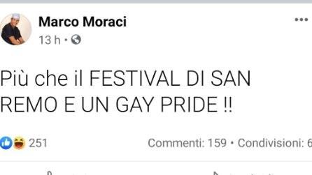"Sanremo ""gay"", le frasi choc di Marco Moraci"