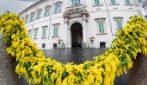 Il palazzo del Quirinale in occasione della Giornata Internazionale della Donna