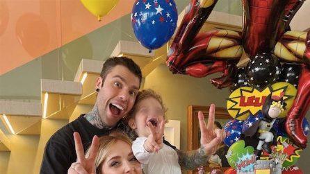 La festa casalinga per i 3 anni di Leone Lucia Ferragni