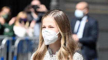Leonor di Spagna, il look low-cost per la prima volta da futura regina