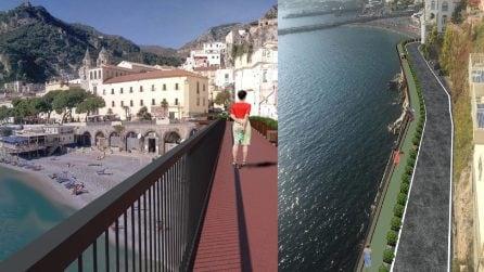 La passerella con vista mozzafiato sulla Costiera che collegherà Amalfi e Ravello