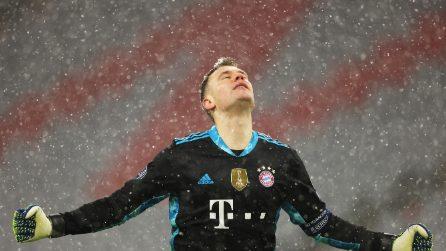 Bayern-PSG: nevica a Monaco durante la supersfida di Champions