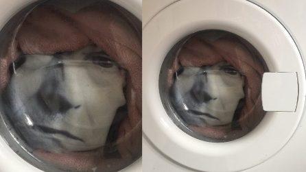 """C'è un """"uomo"""" in lavatrice che lo fissa in casa: """"Ho quasi avuto un infarto"""""""
