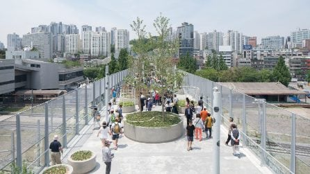 MVRDV trasforma un'ex autostrada di Seul in un parco pubblico spettacolare
