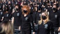 Bauli in piazza: gli artisti scesi a piazza del Popolo per sostenere i lavoratori dello spettacolo