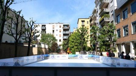 La pista di pattinaggio sul ghiaccio all'aperto di Milano che si può usare tutto l'anno