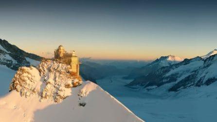 A 3.454 metri di altezza, sulla stazione ferroviaria più alta d'Europa