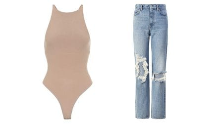 Body scollati e jeans, il look must-have della primavera 2021