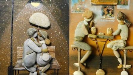 L'artista che crea dei capolavori unendo solo pietre e ciottoli
