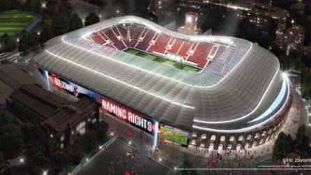 Bologna, il nuovo stadio Dall'Ara: copertura e 30 mila posti