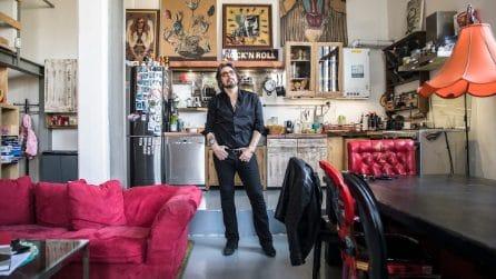 Nella casa rock vintage di Francesco Sarcina, il frontman del gruppo Le Vibrazioni