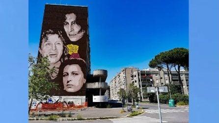 Maxi murale a Tiburtino III: l'omaggio ad Anna Magnani