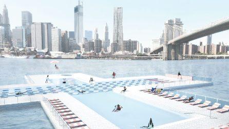 Ecco come sarà la nuova piscina pubblica galleggiante di New York