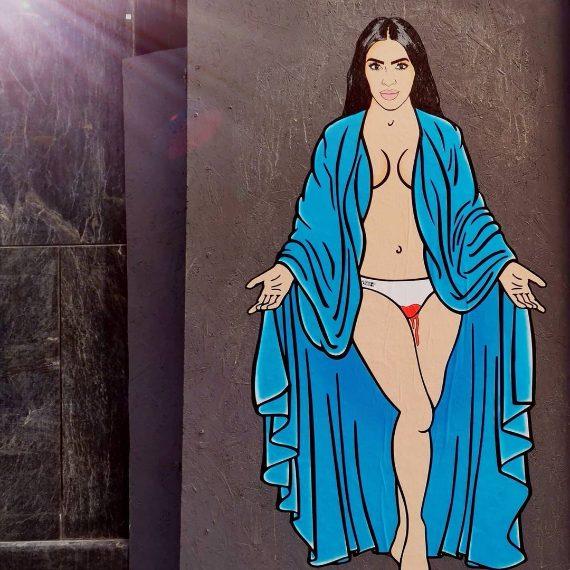 Kim Kardashian con le mestruazioni