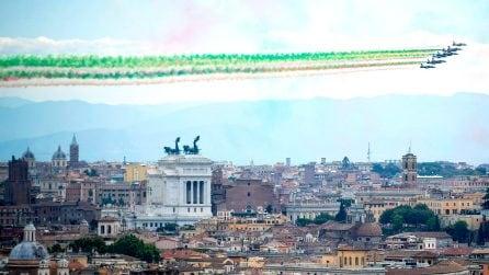 Festa della Repubblica, le Frecce colorano il cielo di Roma