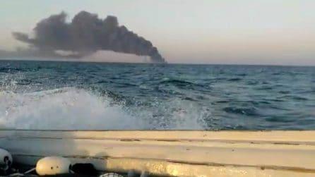 Incendio a bordo della nave, la Kharg affonda