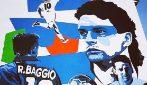 Milano, il nuovo murale dedicato a Roberto Baggio