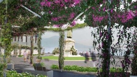 La nuova piazza Nazario Sauro sul Lungomare di Napoli