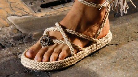 Sandali intrecciati in corda, il must dell'estate 2021
