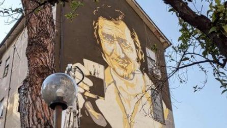 Un murale del Marchese del Grillo per festeggiare i 101 anni dalla nascita di Alberto Sordi