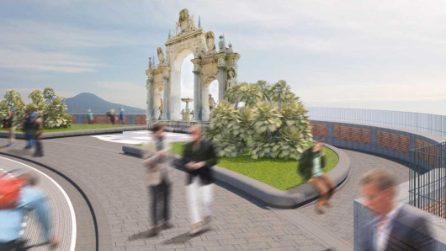 La nuova piazza della Fontana del Gigante sul Lungomare di Napoli