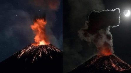 Fontane di lava nella notte: l'ultima eruzione dell'Etna