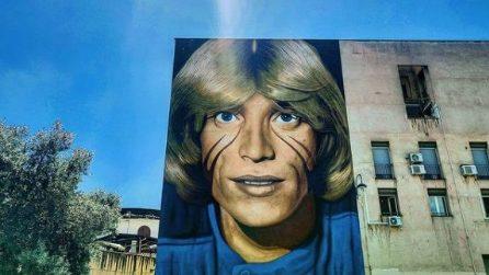 Il gigantesco murale di Jorit per Nino D'Angelo