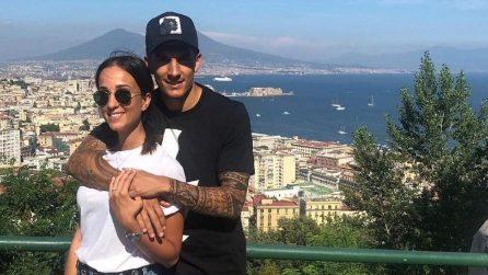 Le foto di Giovanni Di Lorenzo con la fidanzata Clarissa Franchi e la figlia Azzurra